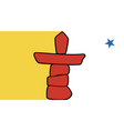 Nunavut flag vector image