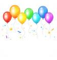 realistic balloon rainbow vector image