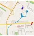 Town street plan vector image