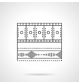 Video media bar flat line icon vector image