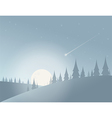 winter moon night landscape vector image