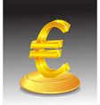 Symbol of Gold Euro on stand vector image vector image