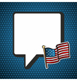 USA national speech bubble in blank and flag vector image