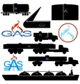 Transportation and storage of natural gas vector image
