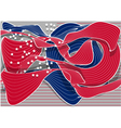 abstract american flag vector image