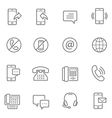 Lines icon set - communication vector image vector image