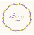 crocus wreath 3 purple yellow vector image