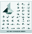Set of ships vector image vector image