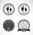 Set of chicken labels vector image vector image