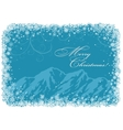 Blue Christmas background with mountains vector image