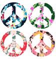 floral peace set vector image