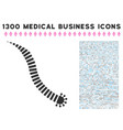 parasite worm icon with 1300 medical business vector image