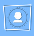 profile icon user member avatar vector image