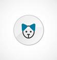 puppy icon 2 colored vector image