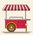 shiny colorful ice cream cart vector image
