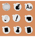 Sticker objects vector image