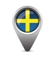 Sweden flag pointer vector image