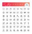 Valentine Line Icons Set vector image