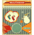 Old Christmas postcard vector image