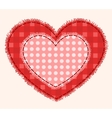 Two patchwork hearts vector image vector image