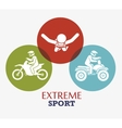 extreme sport badge design icon vector image