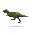 Dinosaur abstract isolated on a white backgrounds vector image vector image