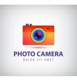 colorful photo camera logo vector image