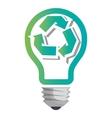 Go green ecology theme design vector image