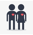 couple with heart in love vector image