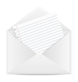 Envelope with a piece of paper vector image