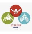 extreme sport badge design icon vector image