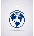 icon of church vector image