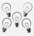 set of lamps on white background vector image