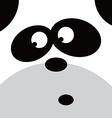 square panda face icon button vector image