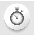 stopwatch web black icon isolated vector image