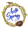 hello spring quote vector image