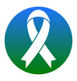 black awareness ribbon sign white icon in vector image