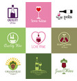 stickers wine drink alcohol image vector image