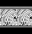 seamless ethnic tribal ornament vector image vector image