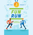 fun running charity marathon poster vector image