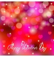 Festive background with hearts bokeh vector image vector image