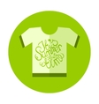 Flat Style T-Shirt Icon with Lettering Element vector image vector image