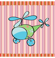 cute little helicopter vector image vector image