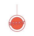 christmas ball hanging decoration ornament vector image