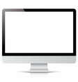 computer display isolated on white background vector image