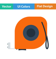 Flat design icon of constriction tape measure vector image