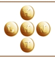Golden coins with roman letters - part 3 vector image