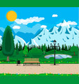 mountain park concept vector image