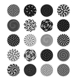 Set of 20 circular textures vector image