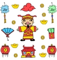 Doodle of New Year Chinese celebration vector image